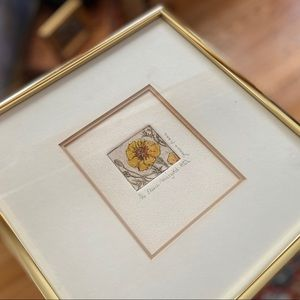 BEAUTIFUL Hand-Drawn & Painted French Marigold